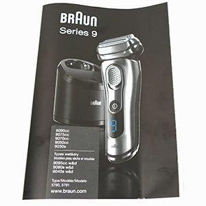 חוברת הפעלה של מכונת גילוח בראון סדרה 9