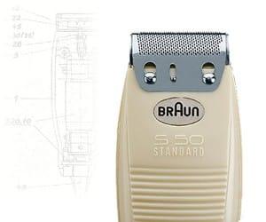 מכונת הגילוח הראשונה של חברת בראון Braun S50