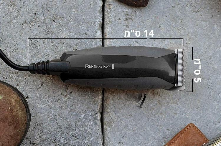הגודל של מכונת התספות של Remington HC5855