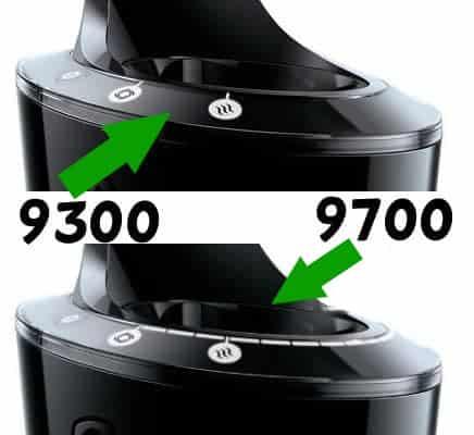 ההבדלים במסכי התצוגה של יחידות הניקוי של מכונת גילוח פיליפס 9700 ו9300