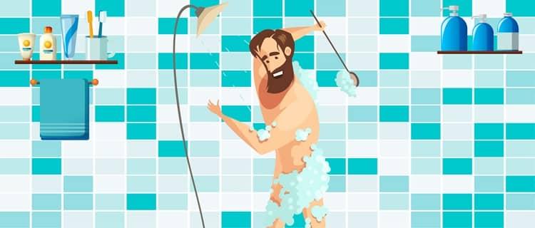 מקלחת לפני גילוח המפשעה