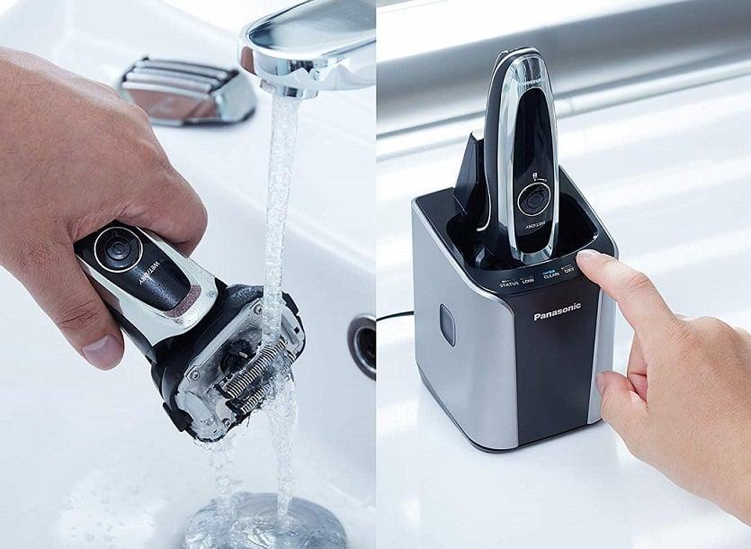 ניקוי אוטומטי וידני של מכונת הגילוח פנסוניק ארק 5