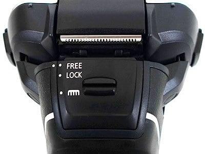סימונים על הגב של פנסוניק ES-LV95